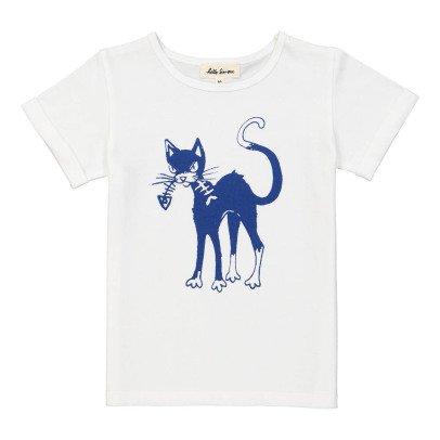 Hello Simone T-Shirt Gatto Plume-listing