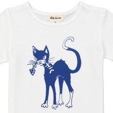 Hello Simone Feather Cat T-Shirt-listing