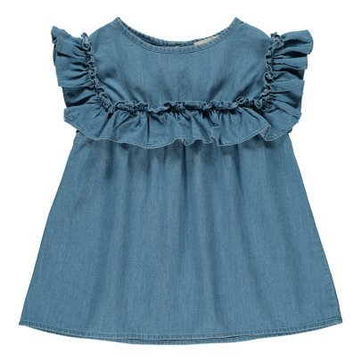 Louis Louise Blusa Volant Chambray -listing