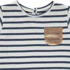 Louis Louise Anaé Gold Pocket Striped T-Shirt-listing