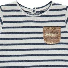 Louis Louise T-shirt Righe Tasca dorata-listing