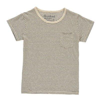 Hartford Striped Linen Cotton T-Shirt-listing