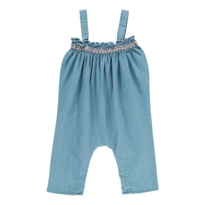 Louis Louise  Granada Smocked Chambray Jumpsuit-listing