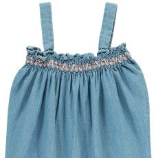 Louis Louise Combinaison Chambray Smockée Grenade-listing