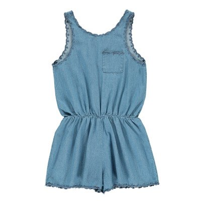 Louis Louise Caro Embroidered Chambray Playsuit-product