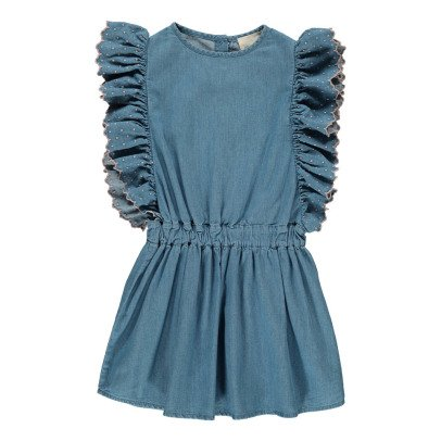 Louis Louise Ludivine Ruffle Chambray Dress-listing