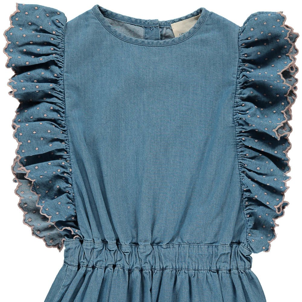 Louis Louise Ludivine Ruffle Chambray Dress-product