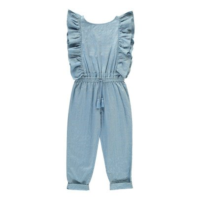 Louis Louise Lorenzana Lurex Checked Ruffle Jumpsuit-product