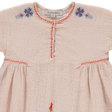 Caramel Dandelion Embroidered Dress-listing