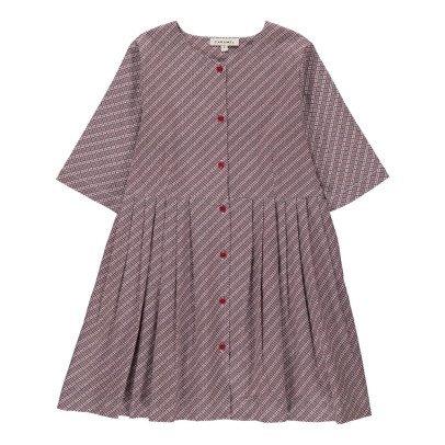 Caramel Vestido Abotonado Cuadros Chicory-listing