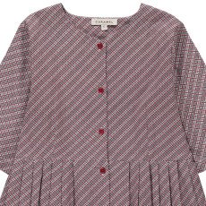 Caramel Chicory Checked Dress with Buttons-listing