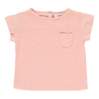 Caramel Avocado Cotton Linen T-Shirt-listing