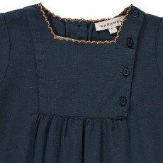 Caramel Baby Lettuce Buttoned Bib Dress-product