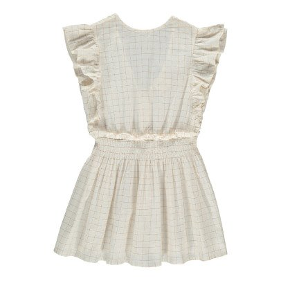 Louis Louise Blanchette Checked Lurex Dress-listing