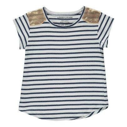 Louis Louise T-shirt Rayé Epaules Dorées Anaïs-listing