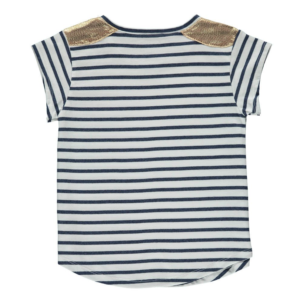 Anaïs Gold Shoulder Striped T-Shirt-product