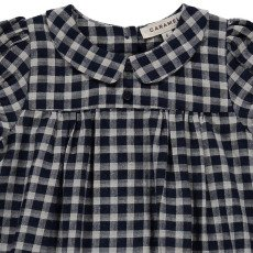 Caramel Chicory Checked Dress-product