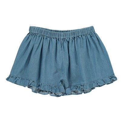Louis Louise Joséphine Chambray Ruffle Shorts-product