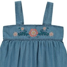 Louis Louise Ninon Embroidered Chambray Top-product