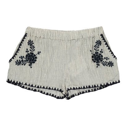 Louis Louise Ines Embroidered Stripe Shorts-product
