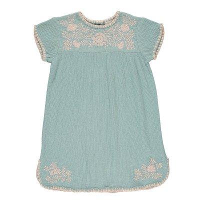 Louis Louise Noémie Embroidered Cotton Crepe Dress-listing