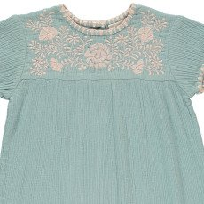 Louis Louise Noémie Embroidered Cotton Crepe Dress-listing