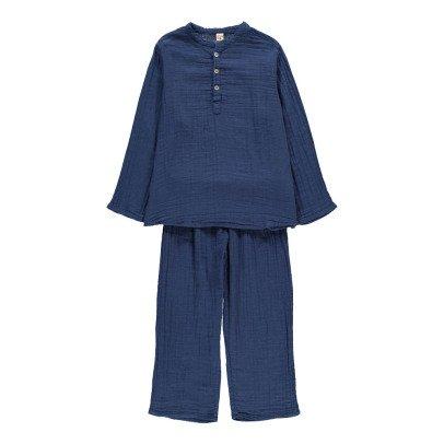 Numero 74 Kurta pantaloni Blu Navy-listing