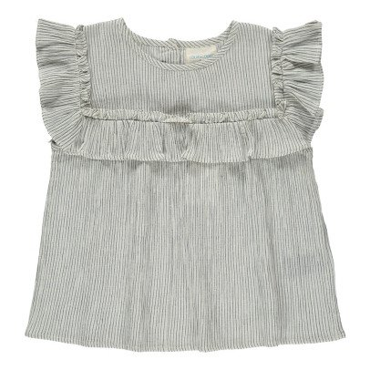 Louis Louise Elia Striped Ruffle Blouse-product