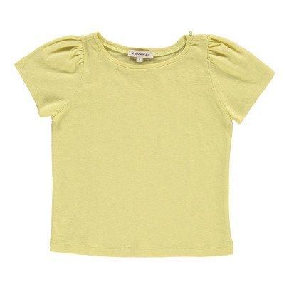 Caramel Spinach Cotton Linen T-Shirt-listing
