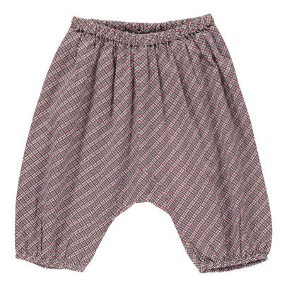Caramel Arame Checked Harem Trousers-product