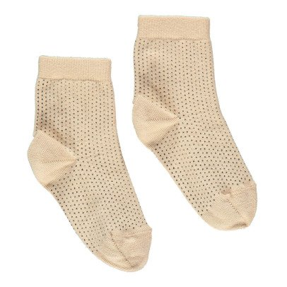 Caramel Polka Dot Socks-product