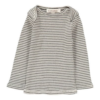 Caramel Salsify Striped T-Shirt-listing