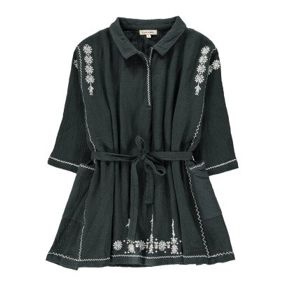 Caramel Vestido Bordado Lazo Cintura Dandelion-listing