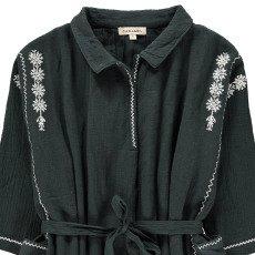 Caramel Dandelion Tie Waist Embroidered Dress-listing
