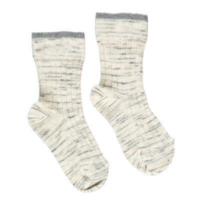 Caramel Ribbed Fleck Socks-listing