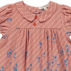 Caramel Vestido Cuadrados Flores Chicory-listing