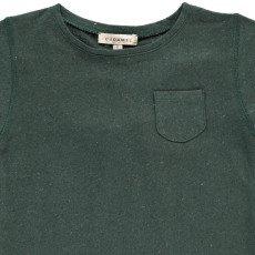 Caramel gestreifteslin Lein - Baumwolle T-Shirt Avocado-listing