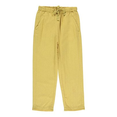 Caramel Burdock Cotton Linen Trousers-product