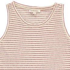 Caramel gestreiftes ärmelloses T-Shirt Cabbage-listing