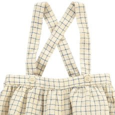 Caramel Fava Checked Bloomers with Braces-listing