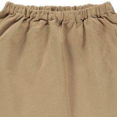 Caramel Azuki Cotton Linen Harem Trousers-listing