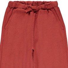 Caramel Pantaloni Cotone Lino Kuku-listing