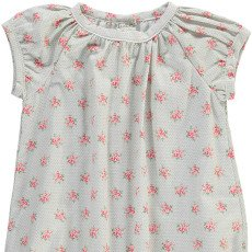 Les lutins Lilous Polka Dot and Floral Romper-listing
