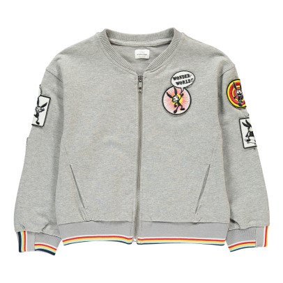 No Added Sugar Put Two & Two Together Patchwork Sweatshirt with Zip-listing