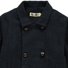 Noro Lined Wool Reefer Jacket Navy blue-listing