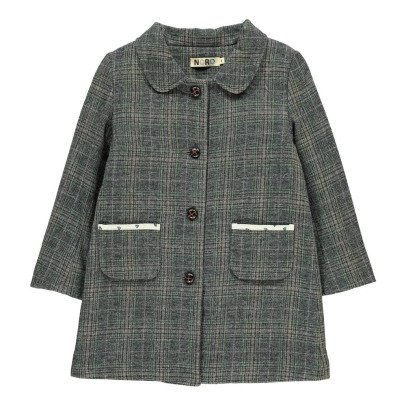 Noro Grenelle Alpaca and Wool Check Coat Grey-listing