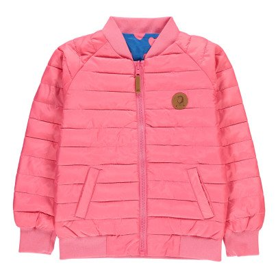 Mini Rodini Reversible Heart Down Jacket Royal blue-listing