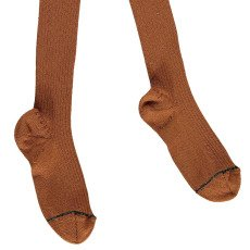 Noro Ribbed Scottish Lisle Cotton Tights Rust-listing