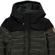 Gertrude + Gaston Little Berthy and Neoprene Hood Jacket Khaki-listing