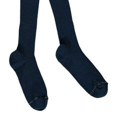Noro Ribbed Scottish Lisle Cotton Tights Navy blue-listing